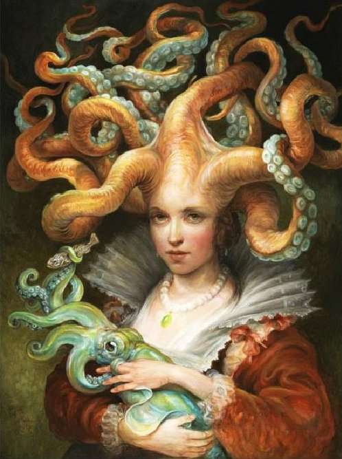 Countessa with Squid by Omar Rayyan